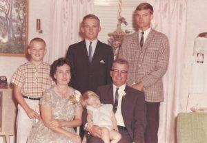 This is a picture of my family - my mom, dad, three brothers, and I