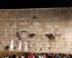 Western Wall of the Temple Mount in Israel, showing the layers each time it was rebuilt
