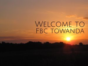 Beautiful sunset picture welcoming visitors to First Baptist Towanda