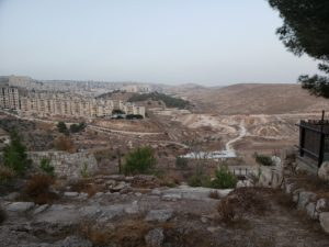"A view of Bethlehem, overlooking the fields where the shepherds heard the message from the angels. ""You will find the baby wrapped in swaddling clothes and lying in a manger."""