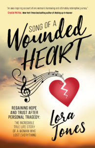 "Cover of ""Song of a Wounded Heart"" by Lora Jones"